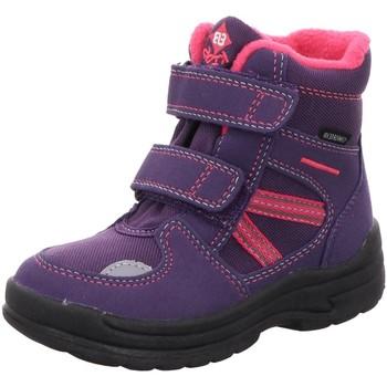 Schuhe Mädchen Schneestiefel Brütting Klettstiefel 691065 lila