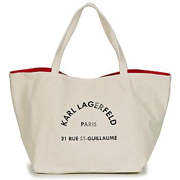 Taschen Damen Shopper / Einkaufstasche Karl Lagerfeld RUE ST GUILLAUE CANVAS TOTE Naturfarben