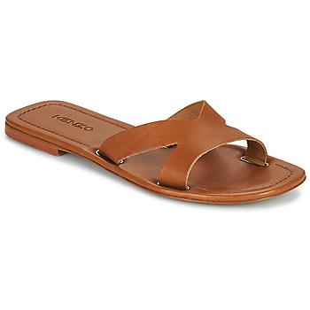 Schuhe Damen Pantoffel Kenzo OPANKA Cognac