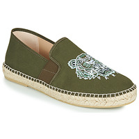Schuhe Herren Leinen-Pantoletten mit gefloch Kenzo ELASTIC TIGER Kaki