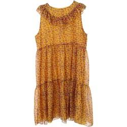 Kleidung Mädchen Kurze Kleider Vicolo 3146V0171 Kleid Kind Gelb / fuscia Gelb / fuscia