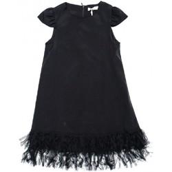 Kleidung Mädchen Kurze Kleider Vicolo 3146V0036 Kleid Kind schwarz schwarz