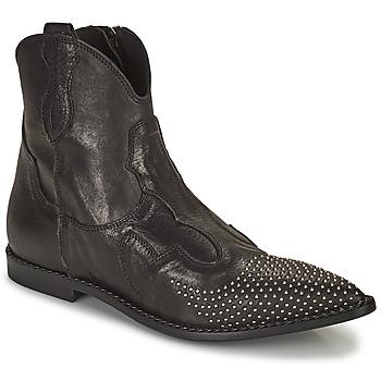 Schuhe Damen Boots Mimmu MONTONE NERO Schwarz