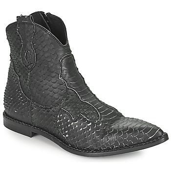 Schuhe Damen Boots Mimmu PYTHON INTAG Schwarz