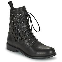 Schuhe Damen Boots Mimmu MONTONE NEROA Schwarz