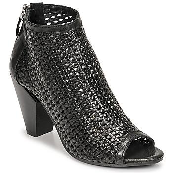 Schuhe Damen Ankle Boots Mimmu INTRECCIO-NERO-PARKER Schwarz