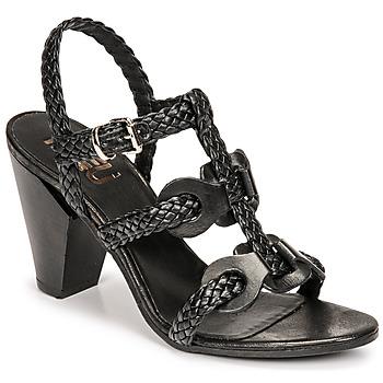 Schuhe Damen Sandalen / Sandaletten Mimmu TRECCIA-P-NERO Schwarz