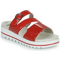 Schuhe Damen Pantoffel Jana JANITA Rot