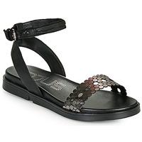 Schuhe Damen Sandalen / Sandaletten Mjus KETTA Schwarz / Silbern