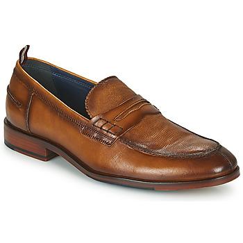 Schuhe Herren Slipper Azzaro NORDEN Cognac