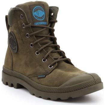Schuhe Sneaker High Palladium Manufacture Pampa Cuff WP LUX 73231309 olivgrün
