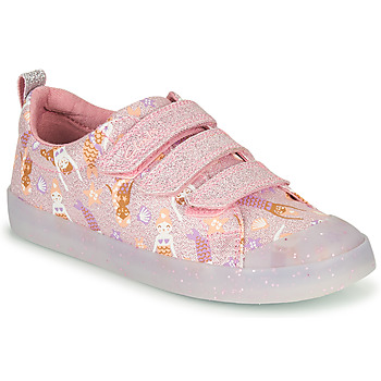 Schuhe Mädchen Sneaker Low Clarks FOXING PRINT T Rose