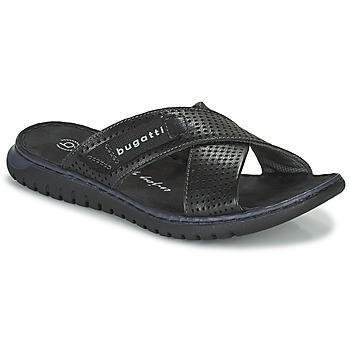 Schuhe Herren Pantoletten Bugatti IDAHO Schwarz