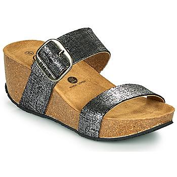 Schuhe Damen Pantoffel Plakton SO ROCK Schwarz