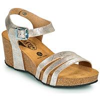 Schuhe Damen Sandalen / Sandaletten Plakton BRESCIA Silbern