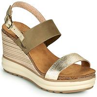 Schuhe Damen Sandalen / Sandaletten Plakton PLAKA Kaki / Gold