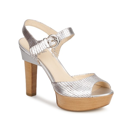 Schuhe Damen Sandalen / Sandaletten Fabi KAITE Silbern