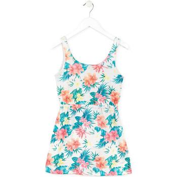Kleidung Mädchen Kurze Kleider Losan 714 7041AB Weiß