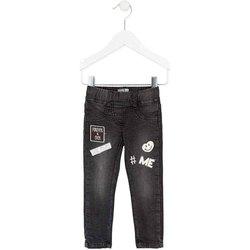Kleidung Mädchen Slim Fit Jeans Losan 726 6032AD Schwarz