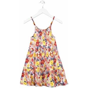 Kleidung Mädchen Kurze Kleider Losan 814-7028AB Orange