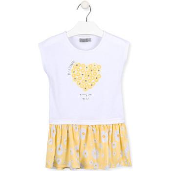 Kleidung Mädchen Kurze Kleider Losan 016-7021AL Weiß