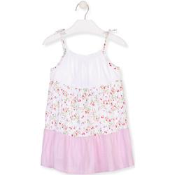 Kleidung Mädchen Kurze Kleider Losan 016-7030AL Weiß
