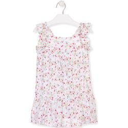 Kleidung Mädchen Kurze Kleider Losan 016-7031AL Weiß