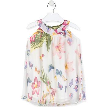Kleidung Mädchen Kurze Kleider Losan 016-7793AL Weiß