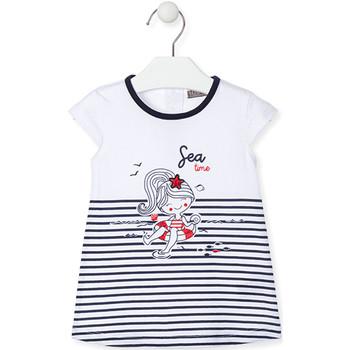 Kleidung Mädchen Kurze Kleider Losan 018-7000AL Blau
