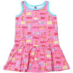 Kleidung Mädchen Kurze Kleider Losan 816-7044AD Rosa