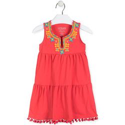 Kleidung Mädchen Kurze Kleider Losan 016-7012AL Rot