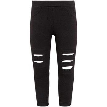 Kleidung Mädchen Leggings Losan 026-6008AL Schwarz