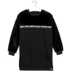 Kleidung Mädchen Kurze Kleider Losan 024-7006AL Schwarz