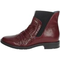 Schuhe Damen Low Boots Riposella IC-84 Bordeauxrot