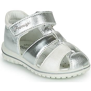 Schuhe Mädchen Sandalen / Sandaletten Primigi GABBY Silbern / Weiss