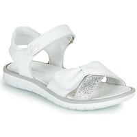 Schuhe Mädchen Sandalen / Sandaletten Primigi LOLA Weiss / Silbern