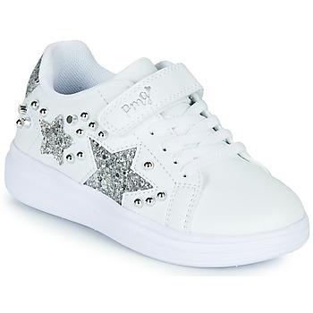 Schuhe Mädchen Sneaker Low Primigi NOLLA Weiss / Silbern
