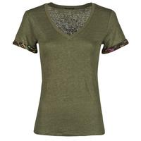 Kleidung Damen T-Shirts Ikks BS10255-56 Kaki