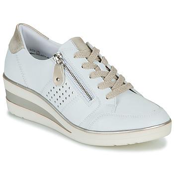 Schuhe Damen Sneaker Low Remonte Dorndorf DORA Weiss / Gold