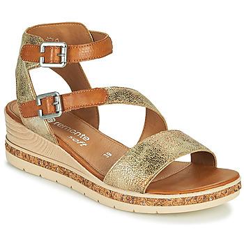 Schuhe Damen Sandalen / Sandaletten Remonte Dorndorf BALANCE Gold / Braun