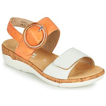 Schuhe Damen Sandalen / Sandaletten Remonte Dorndorf ORAN Orange / Weiss