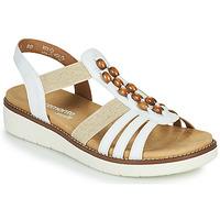 Schuhe Damen Sandalen / Sandaletten Remonte Dorndorf GRISSA Weiss / Grau