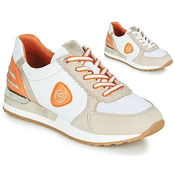 Schuhe Damen Sneaker Low Remonte Dorndorf POLLUX Weiss / Grau / Orange