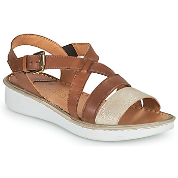 Schuhe Damen Sandalen / Sandaletten Casual Attitude ODETTE Camel / Gold