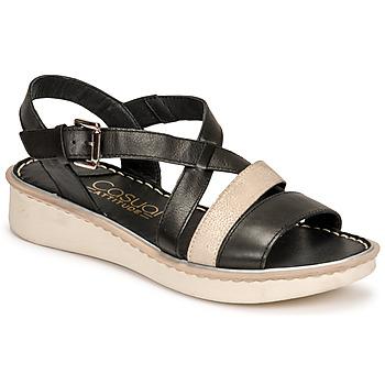Schuhe Damen Sandalen / Sandaletten Casual Attitude ODETTE Schwarz / Gold