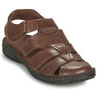 Schuhe Herren Sandalen / Sandaletten Casual Attitude ODOUNE Braun