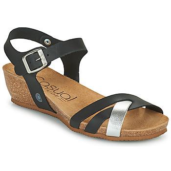 Schuhe Damen Sandalen / Sandaletten Casual Attitude OYA Schwarz / Silbern