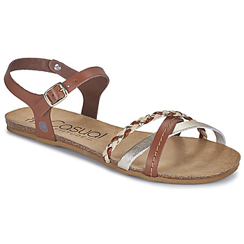 Schuhe Damen Sandalen / Sandaletten Casual Attitude ODIA Camel / Gold