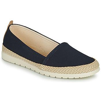 Schuhe Damen Leinen-Pantoletten mit gefloch Casual Attitude ONINON Marine