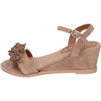 Schuhe Damen Sandalen / Sandaletten Adriana Del Nista Sandalen Wildleder Braun